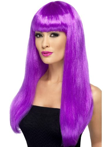 Smiffy's Babelicious Wig, Purple, One Size