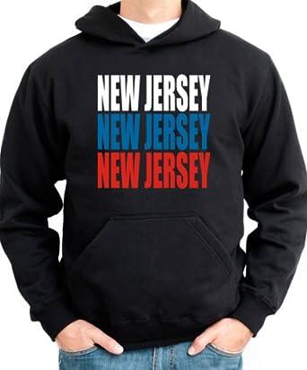 TRIPLE COLOR New Jersey Usa States Men Hoodie by Idakoos