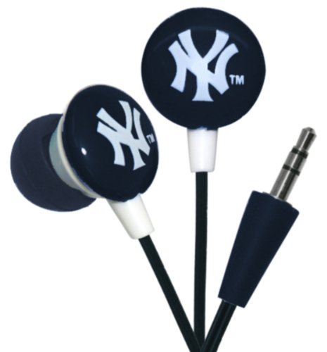 iHip MLF10169NYY MLB New York Yankees Printed Ear Buds, Blue/White at Amazon.com