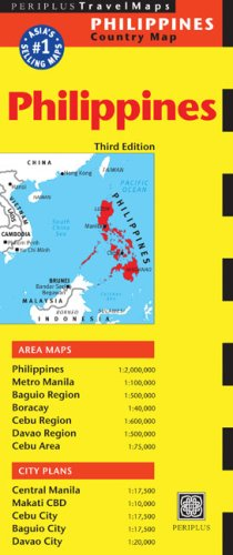 Philippines Travel Map Third Edition (Periplus Travel Maps)