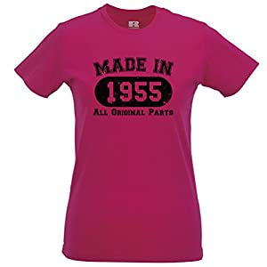 Made In 1955 Limited Edition Birthday 60th T Shirt Gift Nostalgic Retro Year Womens Slim Fit Xsmall - Xlarge Multiple Colours