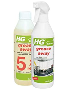 HG Grease Away 500ml and HG Grease Away Refill 500ml to Refill FIVE times