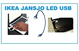 ikea JANSJO LED USB Lamp Light - Blue