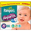 Pampers Active Fit Size 4+ Jumbo Pack 66