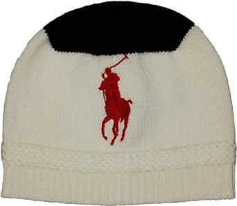 Polo Ralph Lauren Big Pony Knit Wool Cap (Cream)