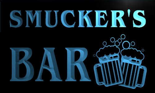 w021773-b-smuckers-nom-accueil-bar-pub-beer-mugs-cheers-neon-sign-biere-enseigne-lumineuse