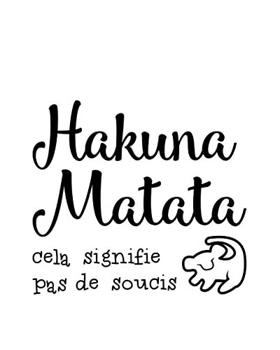 Ambiance-sticker Vinile Decorativo French Quote Hakuna Matata Cela Signifie Pas De Soucis