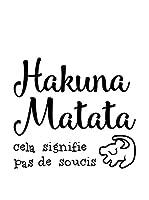 ZZ-Ambiance-sticker Vinilo Decorativo French Quote Hakuna Matata Cela Signifie Pas De Soucis
