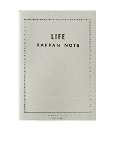 Life Co., Ltd. Kappan Note A5 Ruled Notebook, Grey/Green