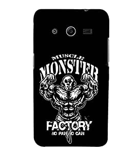 EPICCASE Muscle monster factory Mobile Back Case Cover For Samsung Galaxy Core 2 (Designer Case)