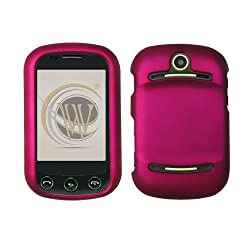 Rose Pink Rubberized Hard Plastic Case For AT&T Pantech Pursuit II