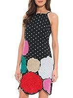Almatrichi Vestido (Negro / Multicolor)