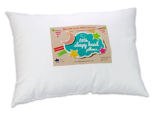 "Toddler Pillow 13 X 18 - Soft & Hypoallergenic - Made in USA - Better Sleep for Toddlers - Smooths Transition to 'Big Kid' Bed - Perfect for School Naps - Backed by Our ""Love the Fluff"" Guarantee"