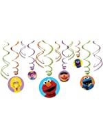 Sesame Street Hanging Swirl Value Pack (Multi-colored) Party Accessory (Multi-colored, 1)
