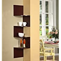 4D Concepts Hanging Corner Storage, Cherry