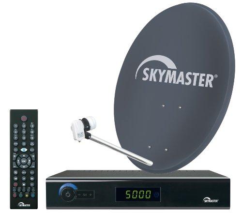 Skymaster 19875  Single Digital HDTV Satelliten-Anlage (60 cm Metallantenne, 1x DXH 300) schwarz