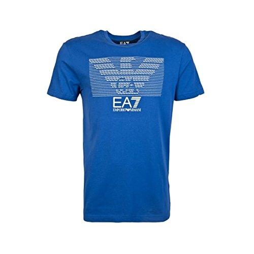 EA7 EMPORIO ARMANI 7 T-SHIRT UOMO 273917 6P237 PRIMAVERA-ESTATE 2016 (L, BLU)