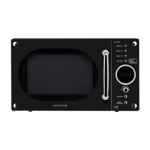 Daewoo KOR6N9RB Digital Microwave, 800 Watt, 20 Litre - Gloss Black