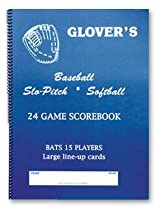 Glover's BB-106 Slo-Pitch Softball Scorebook