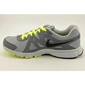Nike Men's NIKE REVOLUTION 2 RUNNING SHOES 8 Men US (WOLF GREY/BLACK/COOL GREY/VOLT)