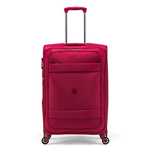 正規品Delsey (デルセー) スーツケース 超軽量 TSAロック 「2年修理保障」 SSサイズ 41L 国内•国外線機内持ち込み可能 1泊2日旅行•出張 カラー選択可能 (レッド)