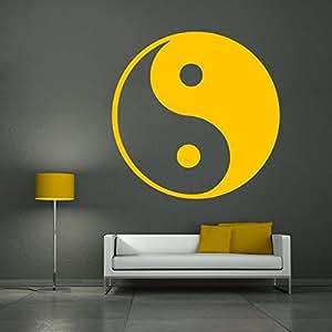 Yin et yang sticker mural noir 76 x 75 cm for Meuble mural yin yang