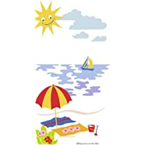 Beach Umbrella Paint by Number Wall Mural