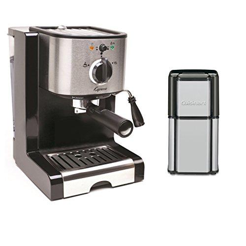 Capresso Coffee Maker And Grinder : Capresso EC100 Pump Espresso and Cappuccino Machine /Coffee Burr Grinder Outfit Espresso ...