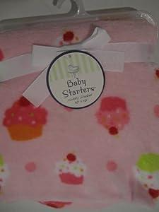 Baby Starters Pink Cupcake Blanket