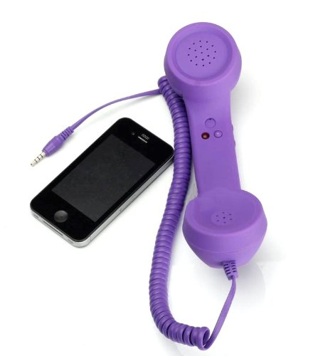 Retro Style Handset For Iphone - 3.5Mm Cell Phone Receiver