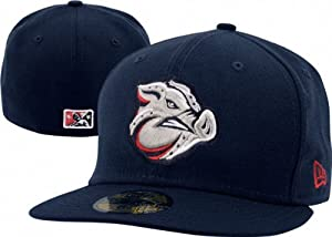 Lehigh Valley IronPigs Navy On-Field Authentic 5950 Fitted Hat