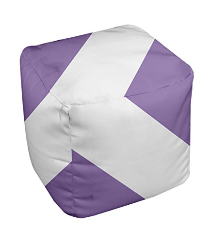 E by design Stripe Pouf, 13-Inch, 1Heather Purple