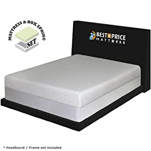 "7"" Gel Memory Foam Mattress & New Innovative Box spring"