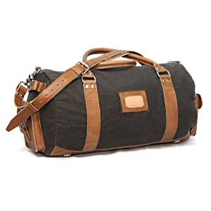Holston Large Duffle Gear Bag - Canvas and Leather