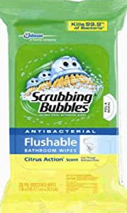 Amazon.com : Scrubbing Bubbles Flushable Bathroom Wipes (2 ...