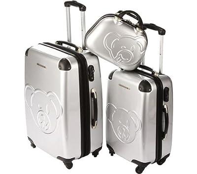 LULU CASTAGNETTE AJA - Set of Two 2-wheel Suitcases + 35 cm beauty case - silver (15 211/3) 85.3333333333333 by LULU CASTAGNETTE