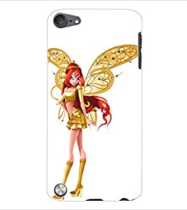 ColourCraft Angel Doll Back Case Cover for APPLE IPOD TOUCH 5