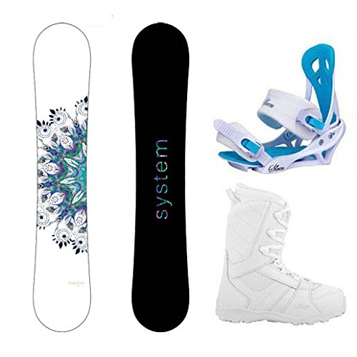 Package-System 2017 Flite Women's Snowboard-146 cm-Siren Mystic Bindings-Siren 2017 Lux Women's Snowboard Boots-7 (Snowboard Package 146 compare prices)