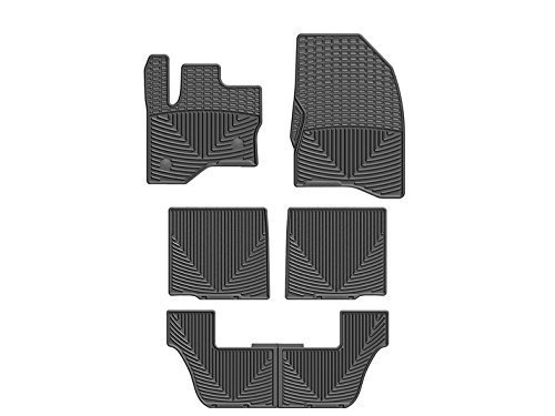 WeatherTech (W237-W231-W232) Floor Mat, Rubber, Front/Rear, Black (2013 Ford Flex Weathertech compare prices)