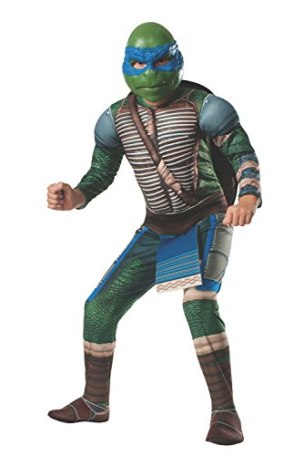 Rubies Teenage Mutant Ninja Turtles Deluxe Muscle-Chest Leonardo Costume, Child Small