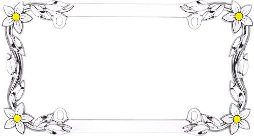 cruiser-accessories-19130-chrome-daisy-license-frame