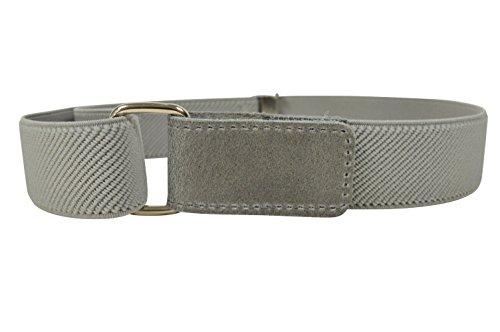 Cintura Elasticizzata per Bambini 1-6 Anni con Apertura Velcro - Grigio Chiaro