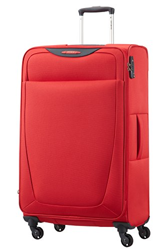 Samsonite Base Hits Spinner 77/28 Valigia Espandibile, Poliestere, Poppy Red, 104 ml, 77 cm