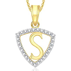 buy valentine gifts meenaz gold plated 39s39 letter pendant With gold lockets with letters