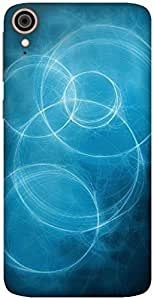 The Racoon Grip blue circles hard plastic printed back case / cover for HTC Desire 828