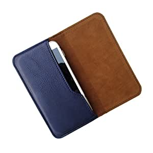 i-KitPit : PU Leather Flip Pouch Case Cover For iBall Andi Uddaan (NAVY BLUE)