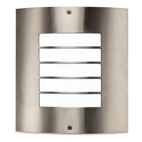Portfolio Wall Sconce Brushed Nickel : Portfolio - Wall Sconce (170479) - Dusk To Dawn - Indoor/Outdoor - Contemporary (Brushed Nickel ...