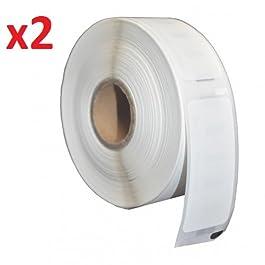 Compatible 2 x Dymo/Seiko 99010 Étiquettes d'adressage pour Dymo LabelWriter 310, 320, 330, 330 Turbo, 400, 400 Turbo, 400 Twin Turbo, 400 Duo, 450, 450 Turbo, 450 Twin Turbo, 450 Duo, 4XL, EL40, EL60, Seiko SLP 100, 120, 200, 220, 240, 400, 410, 420, 430, 440, 450, Pro, Plus Imprimantes d'étiquettes