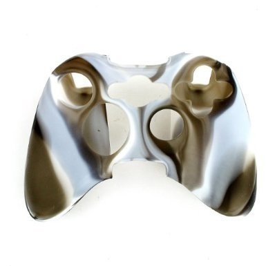 New Silicone Cover Case Skin for Xbox 360 Controller Camo Gray with White (Xbox 360 Gray Controller compare prices)
