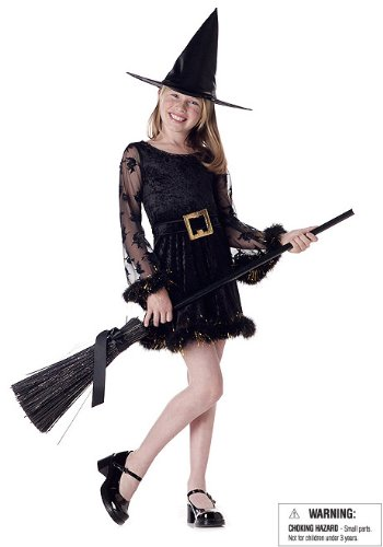 Adorable Witch Cute Kids Party Costume